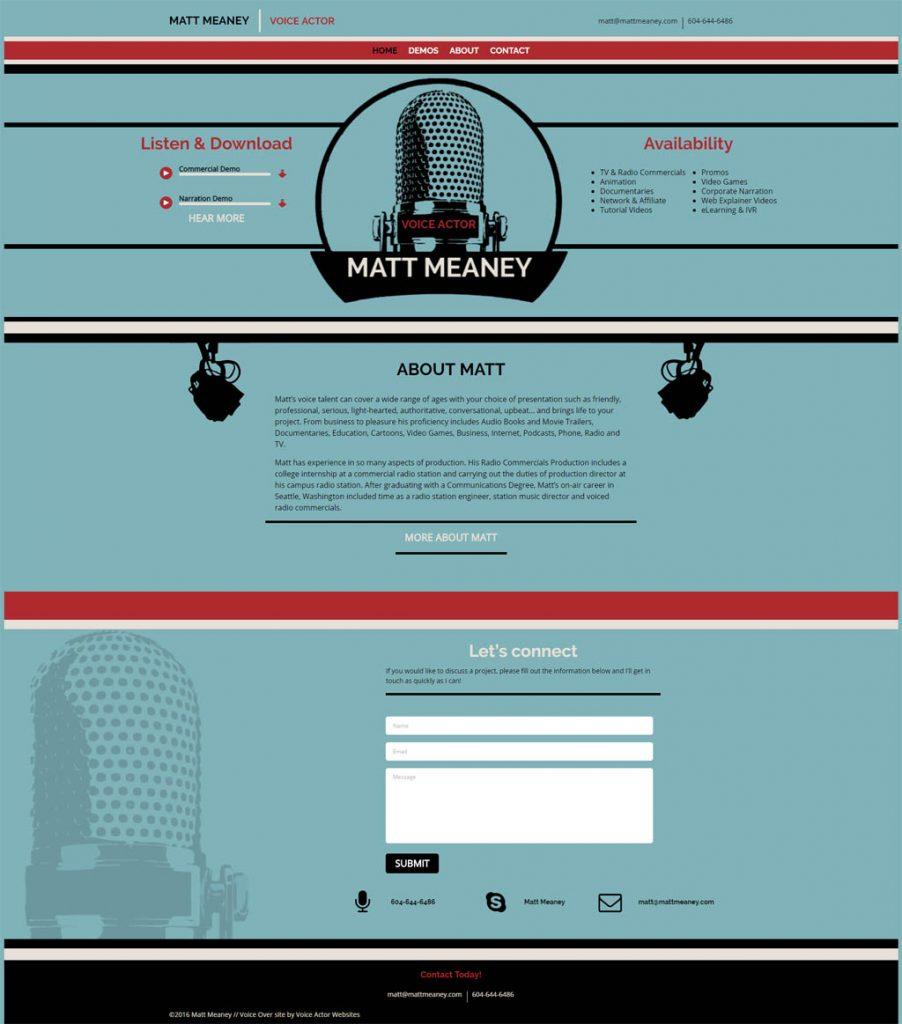 Voice Over Web Design Portfolio - Websites we created for