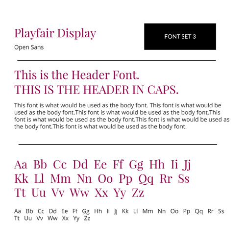 Font Set 3