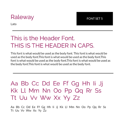 Font Set 5